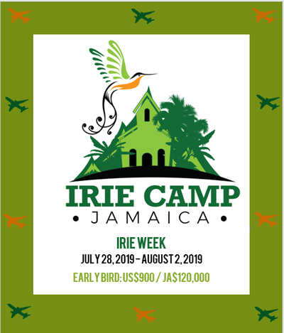 2019 resident camp fee plus airfare, Irie week 2019 dates, things to do in Jamaica
